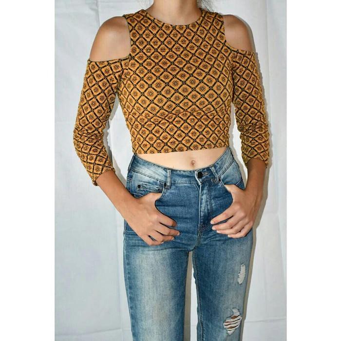 Μπλούζα με έξω ώμους, Pull&Bear, νούμερο SMALL. Photo 0