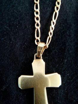 Χρυσος σταυρος 14K σε Υπόλοιπο Πειραιά