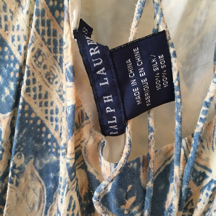 Αυθεντικό Ralph Lauren αμάνικο, μεταξωτό,maxi. Photo 8