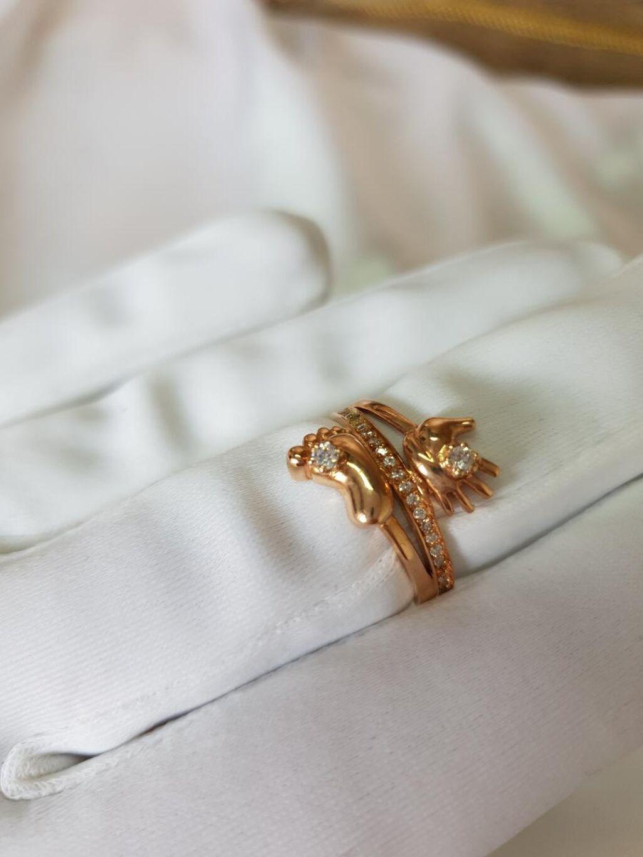 Золотое кольцо из желтого золота 585 пробы