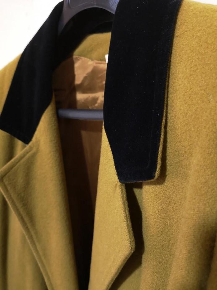 Maxi παλτό ολομαλλο, Νο Medium Large   με βελούδινο μαύρο γιακά. . Photo 1