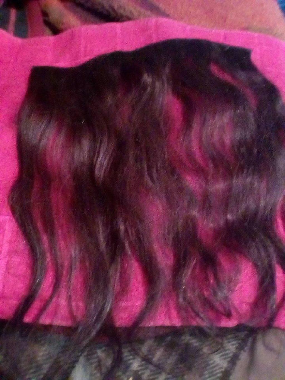 Klipse od prirodne kose,sirina 30cm,duzina 40cm,sa 5 klipseva