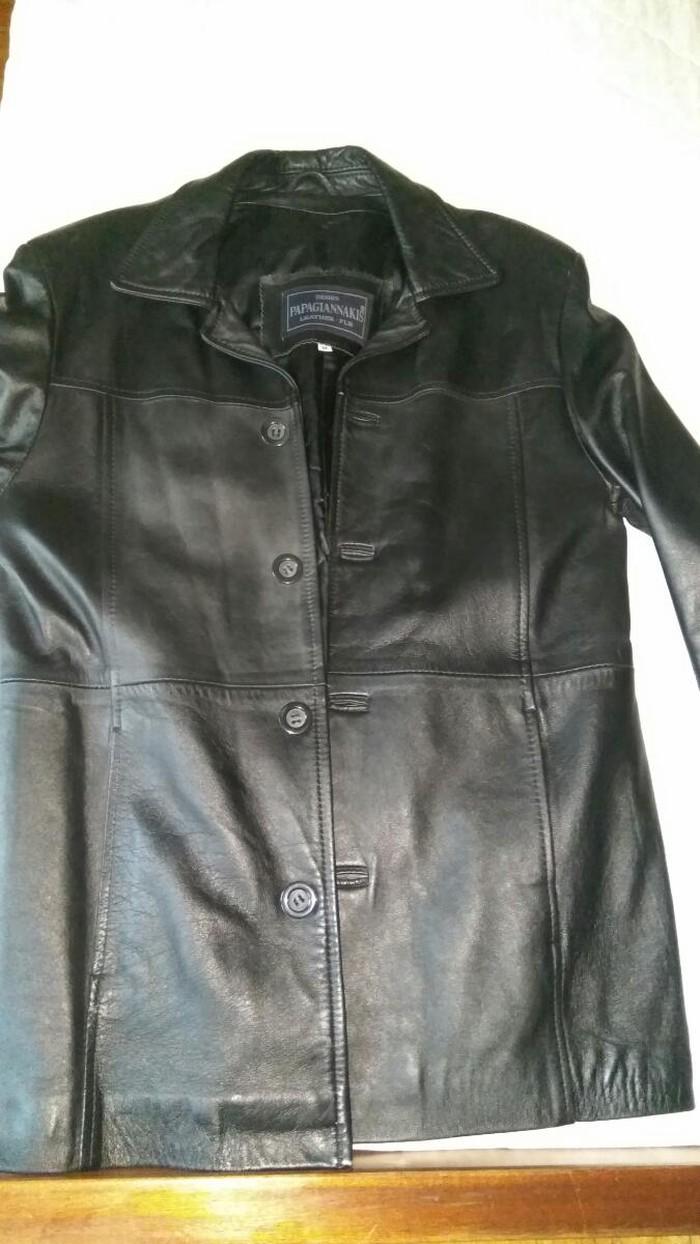 ΝΕΑ ΤΙΜΗ!!!Δερμάτινο ημιπαλτο αυθεντικό σε άψογη κατάσταση, ελάχιστα φορεμένο μέγεθος Medium μόνο 30ευρώ