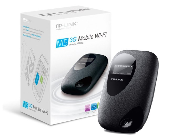TP LINK M5350 3G Mobile WLAN Router  hotspot.. Photo 0