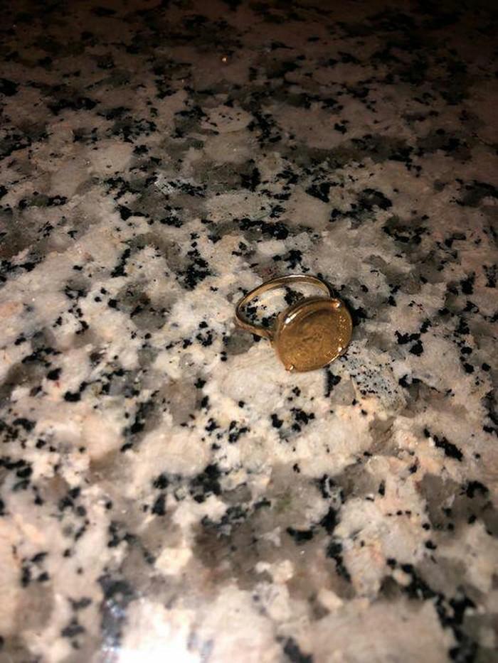 Καθαρο χρυσο δαχτυλιδι λιρα κ9 βαρος  12 γραμμ.. Photo 5