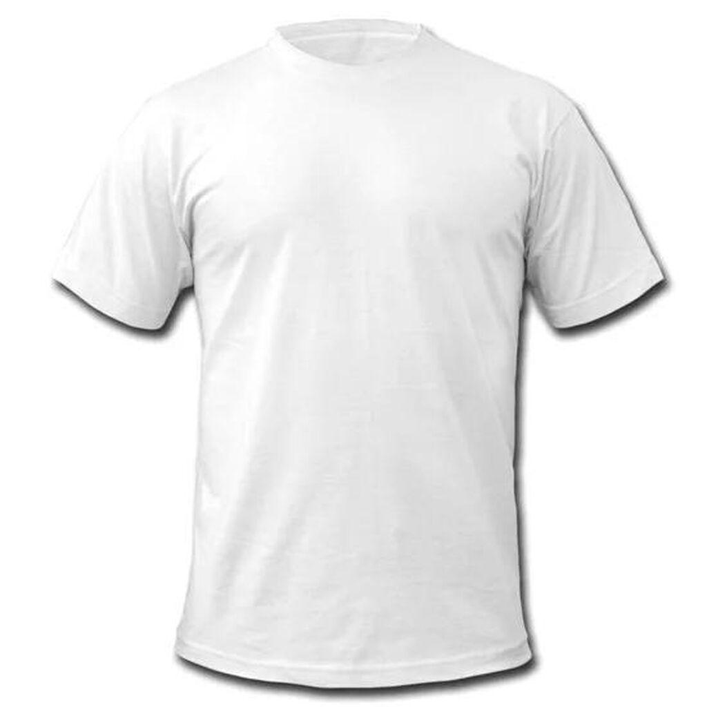 Белая футболка хб  По 83с от 1000 шт оригинал: Белая футболка хб  По 83с от 1000 шт оригинал