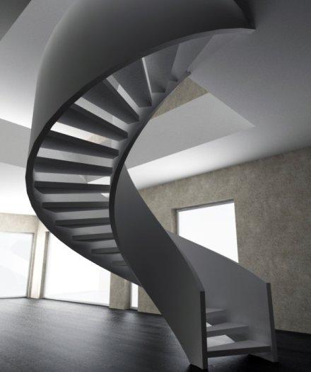 Винтовые лестницы бетонные любой дизайн. Photo 0