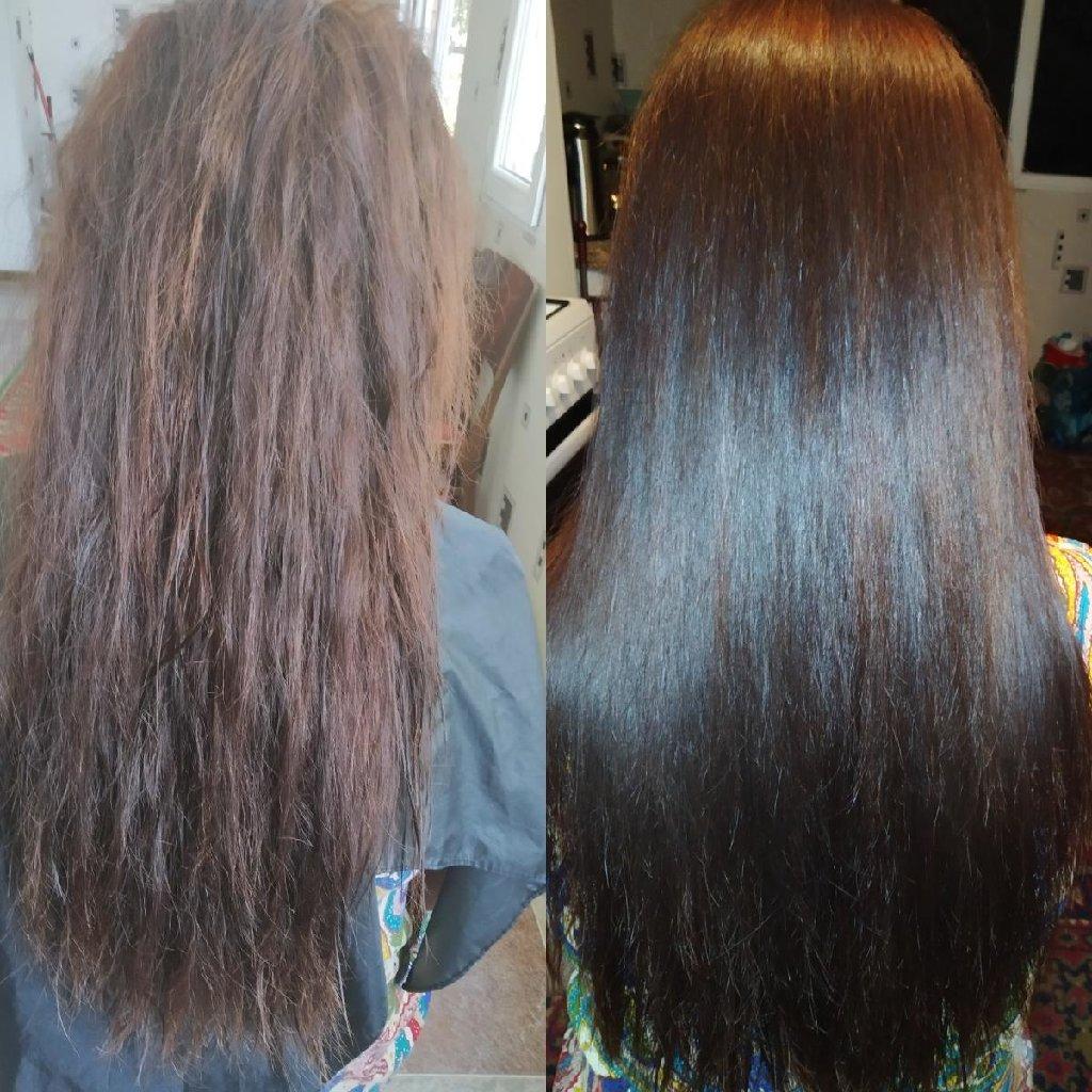 Кератиновое выпрямления, восстановление,ботокс и нанопластика волос