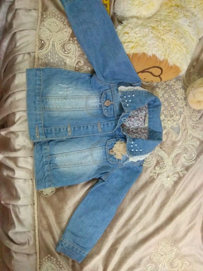 Продаю джинсовую куртку в идеальном состоянии на 2-3 годика в Токмак