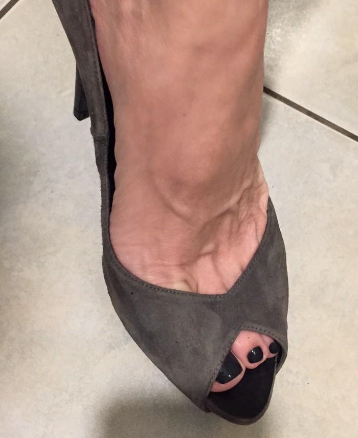 Zara suede ανθρακί peep toes . Καινούργια .. Photo 5