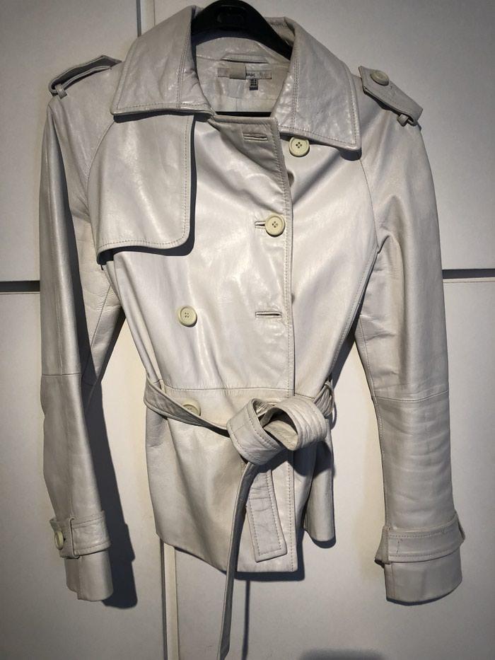 Δερματινο τζακετ zara 100%leather λευκο χρωμα medium. Photo 0