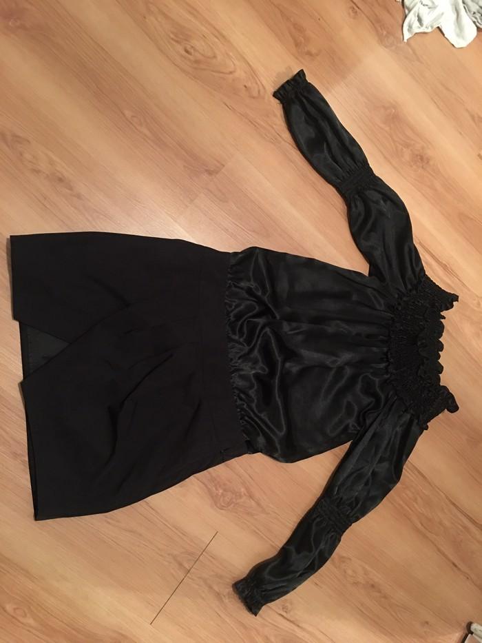 Mischalis φορεμα μαυρο ανοιχτο στους ωμους. Photo 1
