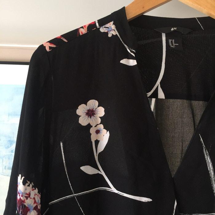Καινούργιο H&M μαύρο εμπριμέ φόρεμα. Photo 6