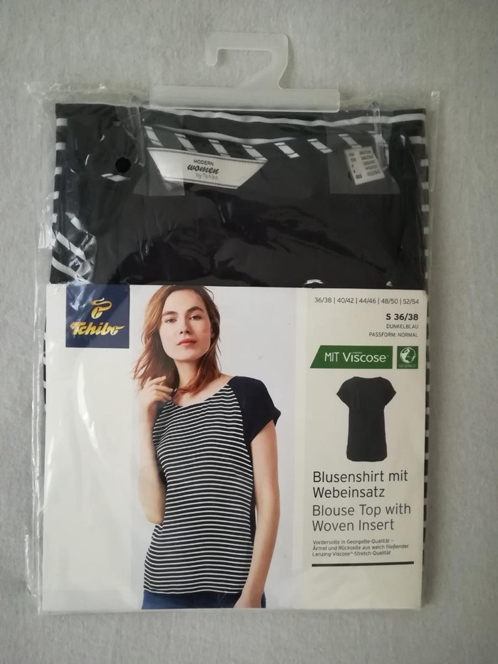 Zenska bluza, teget, marka Tchibo, velicina S 36/38, vrhunski kvalitet, pamucna, nova, uvoz iz Nemacke