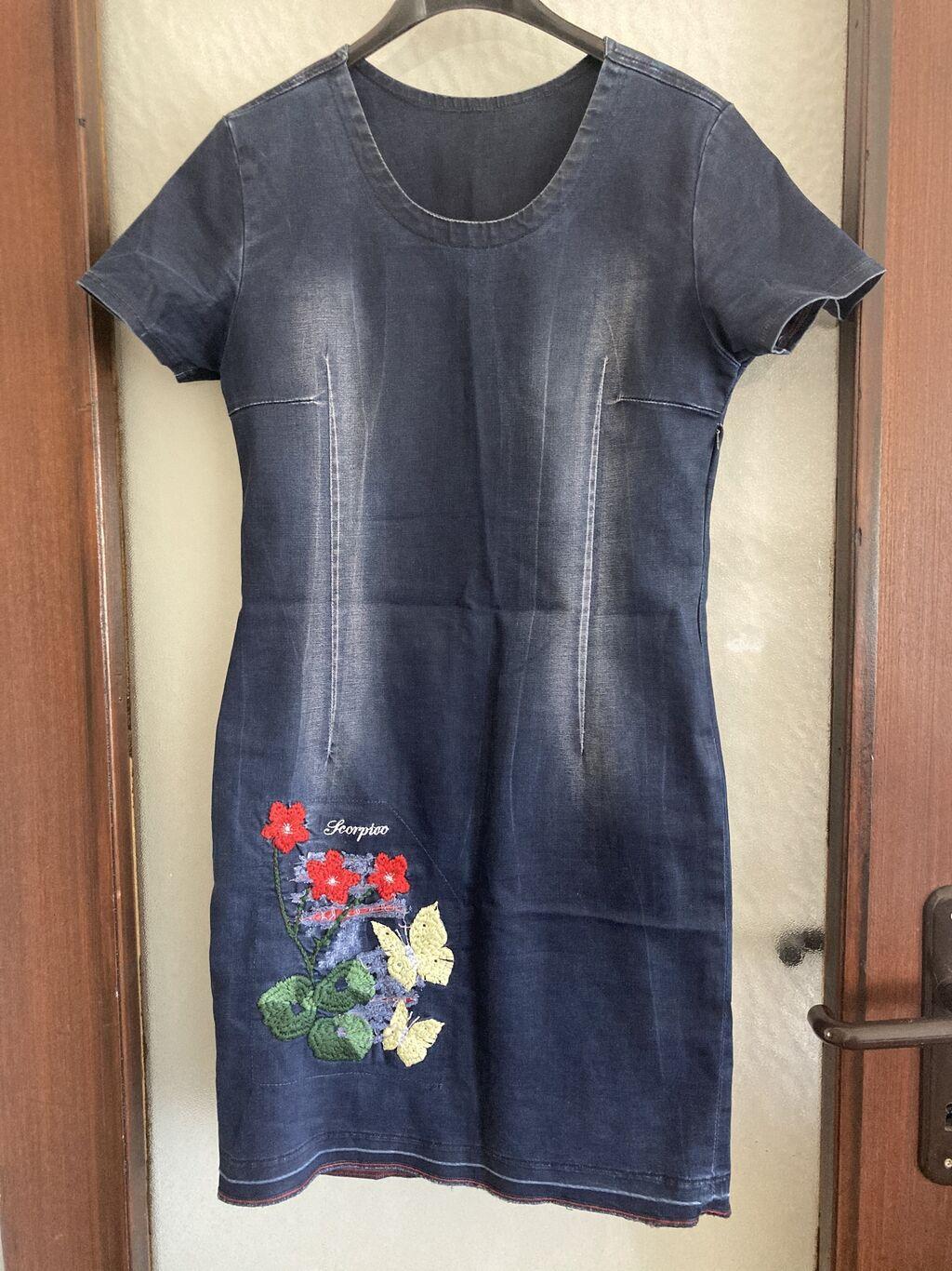 Prelepa teksas haljinica, naznacena vel. L ali vise odgovara za: Prelepa teksas haljinica, naznacena vel. L ali vise  odgovara za