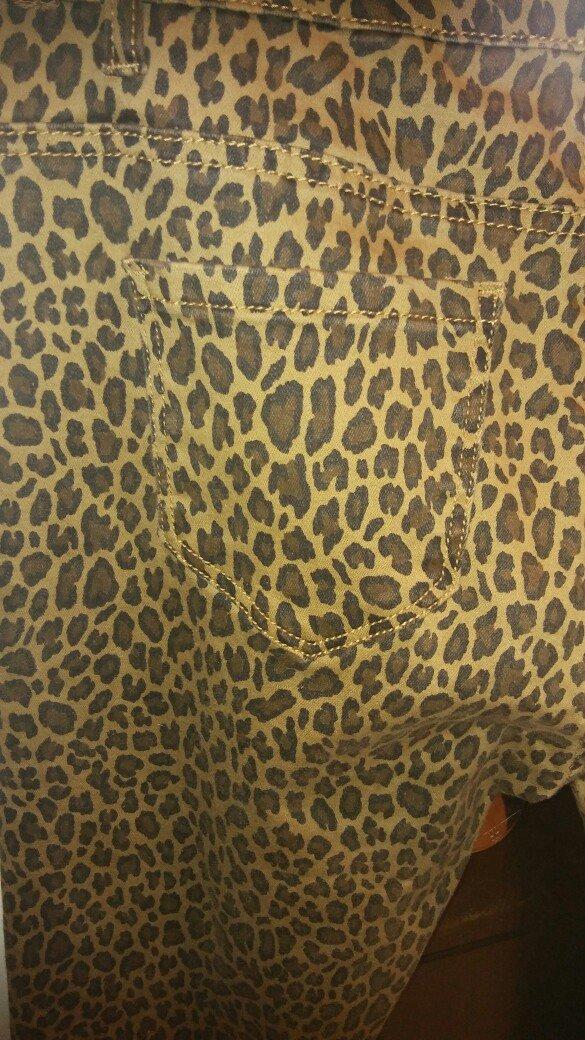Παντελονι τζιν λεοπαρ ολοκαινουριο με το καρτελακι ελαστικο κανονικη μ. Photo 2
