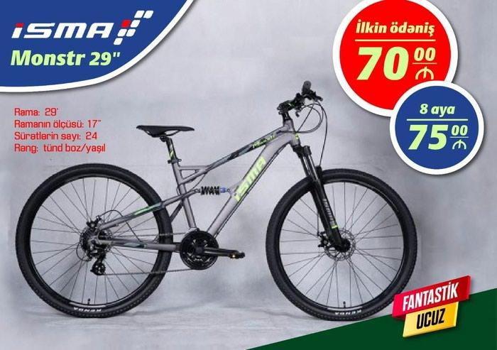 Yevlax şəhərində velosipedler kredite