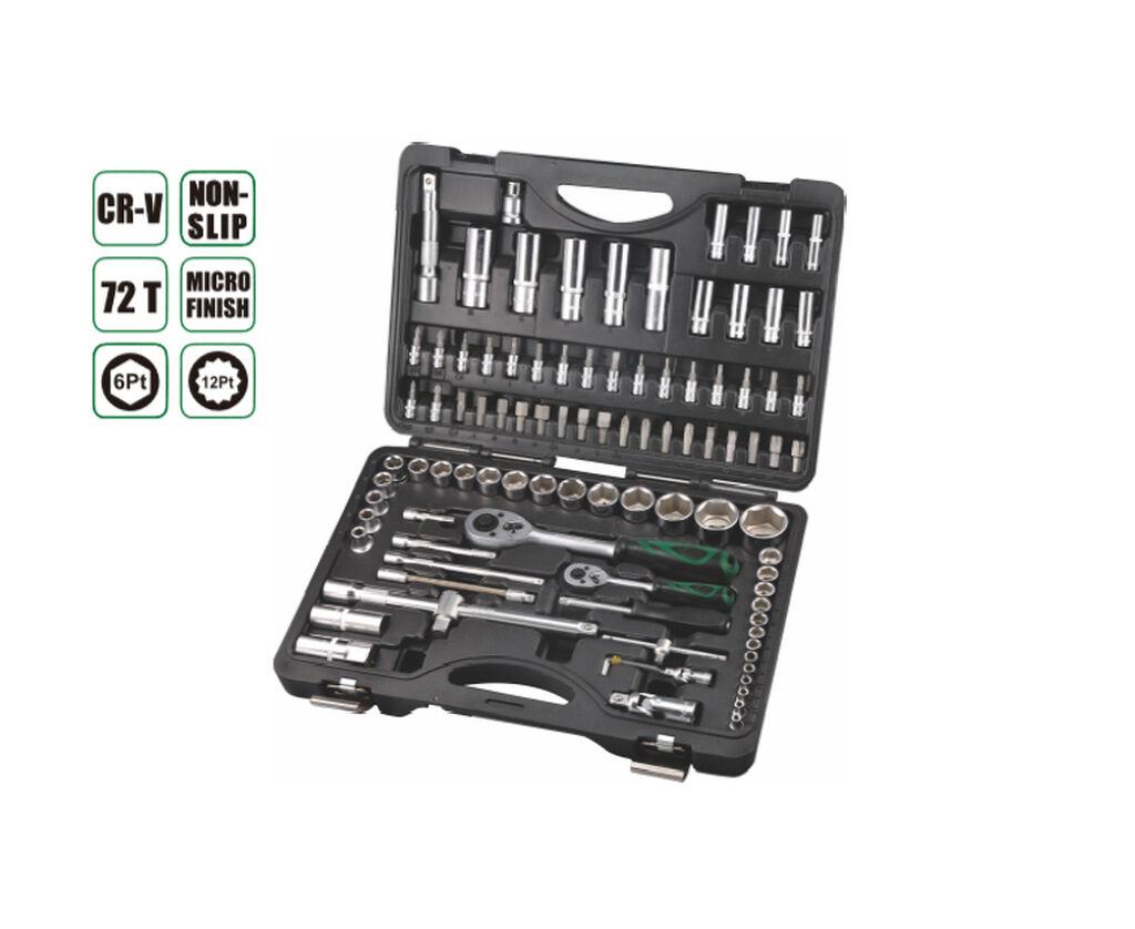 Набор инструментов 97 прс, AE-S97, ·-18ШТ 1/4 бит гнездо:T8,Т10,Т15,Т20,Т25,Т27,Т30,Н3,Н4,Н5,Н6,SL4,SL5