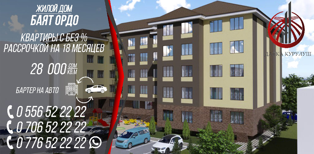 Продается квартира: 2 комнаты, 64 кв. м в Бишкек