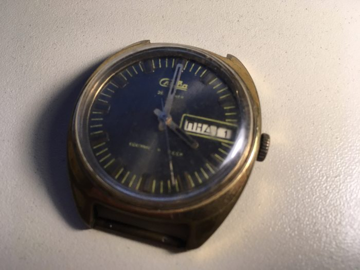 Kişi Qızılı Klassik Qol saatı . Photo 1