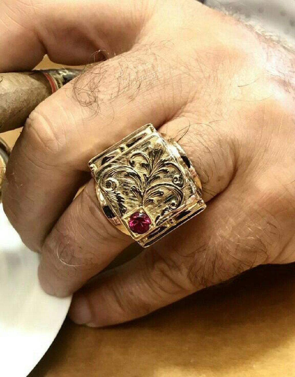 Χρυσο αντρικο δαχτυλιδη 12 καρατιων