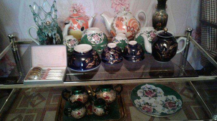 Посуды из фарфора аллюминия и стекло.. Photo 0