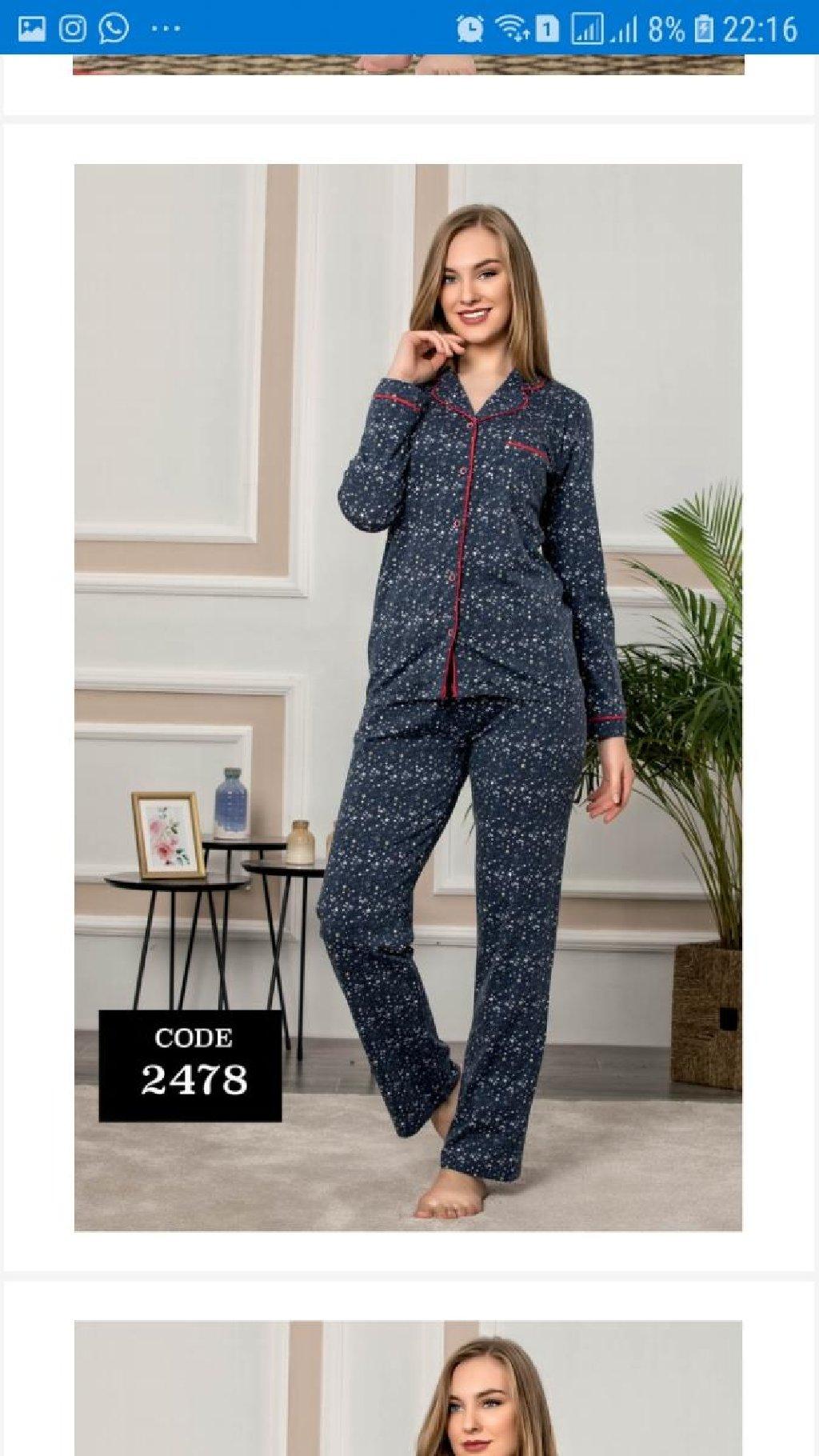 Pijama turkiyenin 100% pambiq 35 azn.Razmerler var