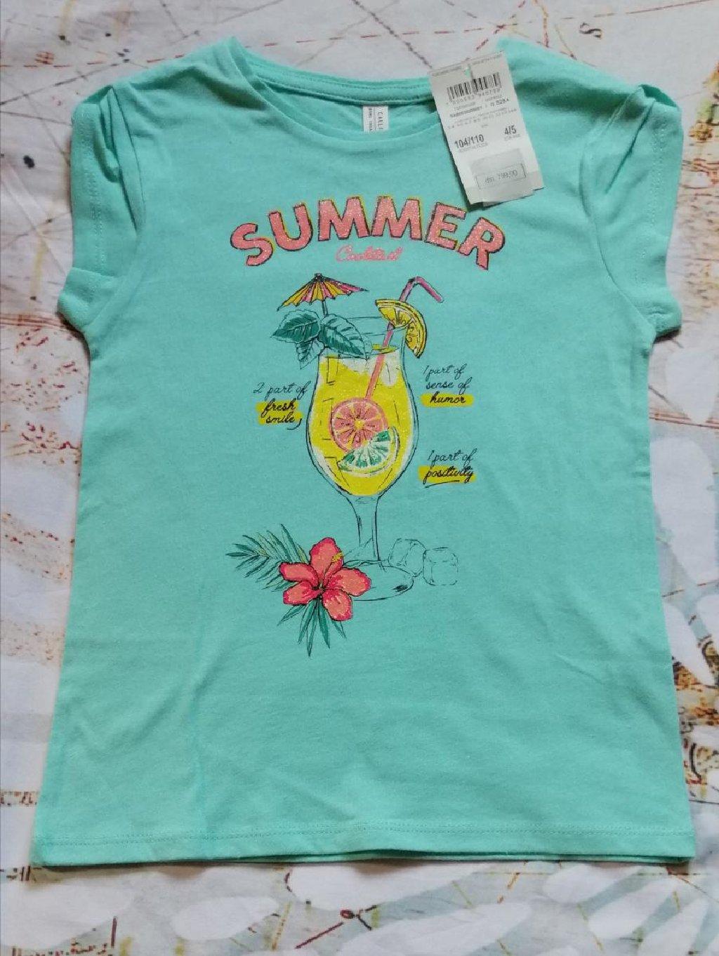Nova, sa etiketom, italijanska, Calliope majica, za devojčice uzrasta 4-5 godina