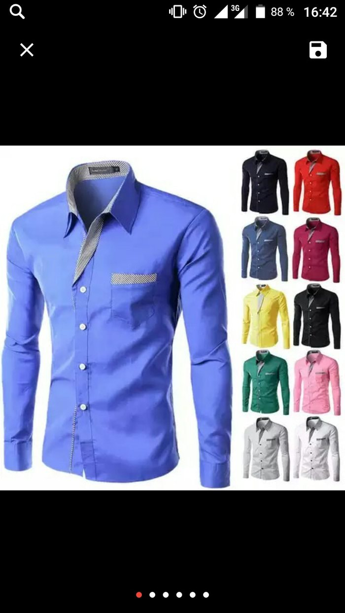 Рубашка для мужчины сплошное цвет. Photo 0