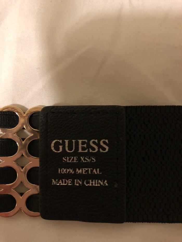 Ολοκαίνουργια όμορφη μαύρη και χρυσή GUESS ζώνη!!   αρχική τιμή 50€!!. Photo 0