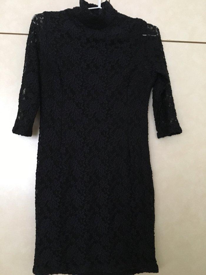 ZARA φορεμα σε μπλε σκουρο σχεδον μαυρο. Photo 0