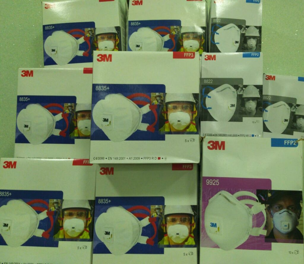 Amerika istehsali 3M respiratorlari ( N100; FFP3; FFP2)