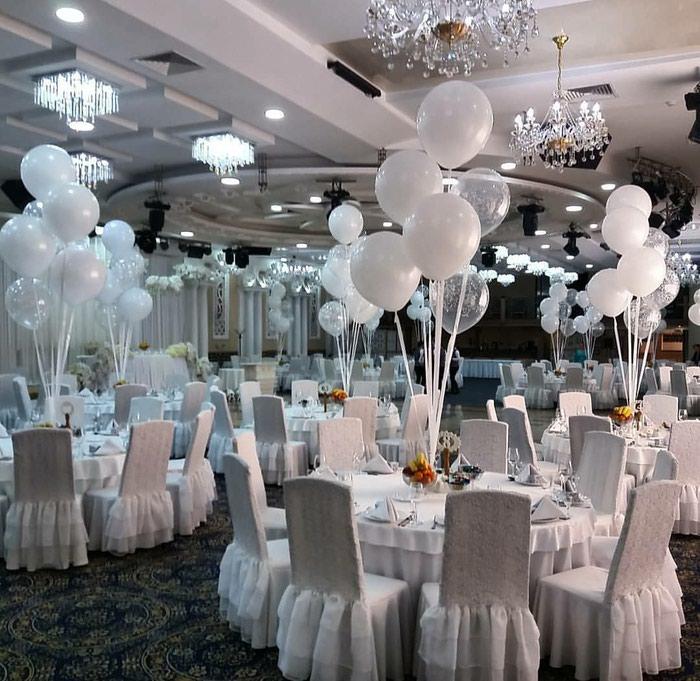 Белоснежные шары на свадьбу!. Photo 0