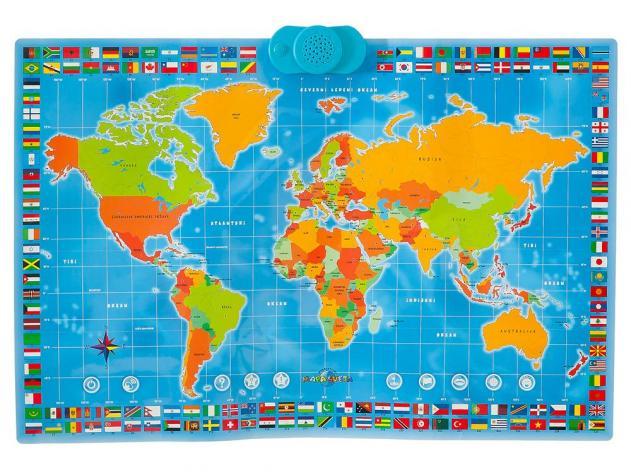 mapa sveta na srpskom Interaktivna mapa sveta koja govori na srpskom jeziku, edukativna  mapa sveta na srpskom