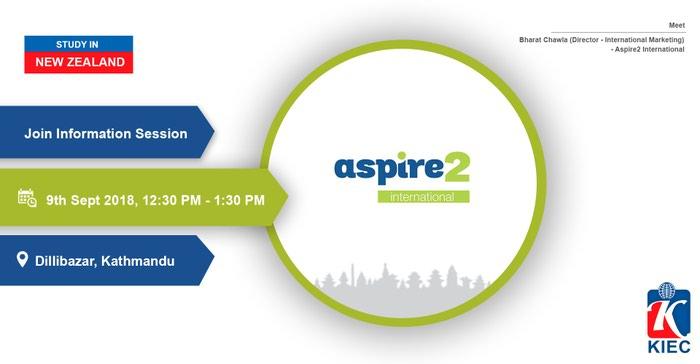 Aspire2 International is a PTE in New Zealand offering many courses in in Kathmandu