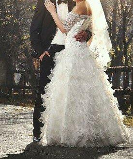 Дам в аренду свадебное платье,  сшитое в Бишкек