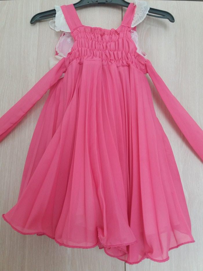 Επισημο φορεμα 2 ετων, με φοδρα, φουξια πλισε. εντελως αχρησιμοποιητο.. Photo 2