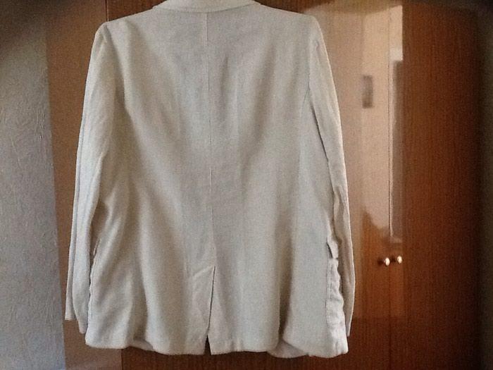Пиджак лен фирма куплен в москве одет пару раз как новый размер 50-52. Photo 1