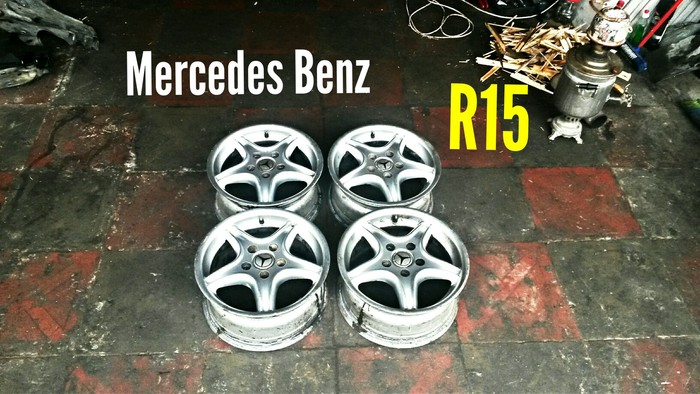 Mercedes Benz R15 5 Bolt Disklər. Photo 0