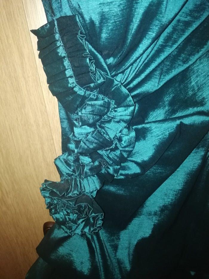 Elegantna haljina, jednom obucena, petrolej boje. Velicina M.. Photo 1