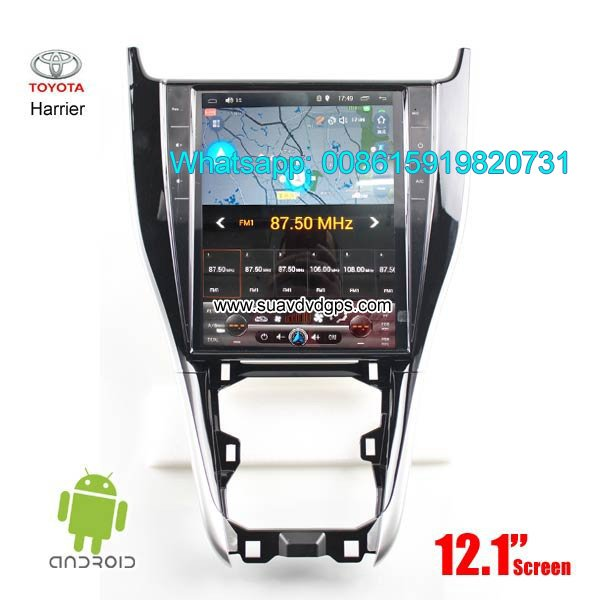 Toyota harrier car radio gps vertical screen