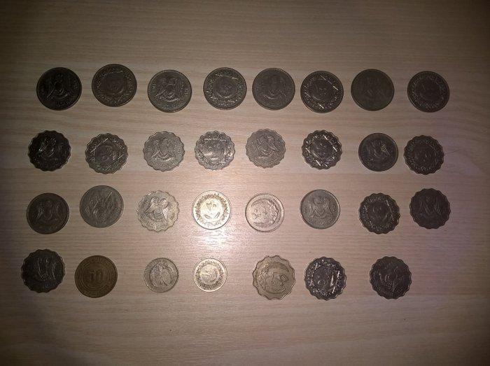 Africa coins. 42 κέρματα. Libya: 10,20,50,100 dirhams, 10,20,50 σε Αθήνα