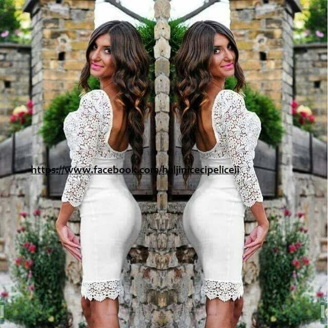 Nova haljina, veličina S-M, materijal: viskoza, elastin i čipka