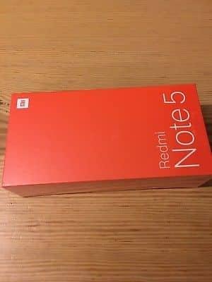Μάρκα Xiaomi Redmi Σημείωση 5 σε χαρτοκιβώτιο με πλήρη εξαρτήματα