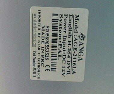 Καταγραφικο 16 καμερων Anga 16ch DVR AGE-2416LA. Photo 2