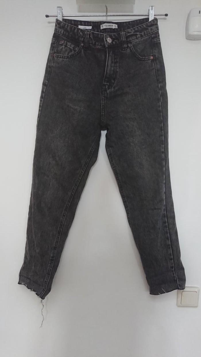 Μαύρο Τζιν παντελόνι denim mom fit  σε άριστη κατάσταση νούμερο 34. Photo 0