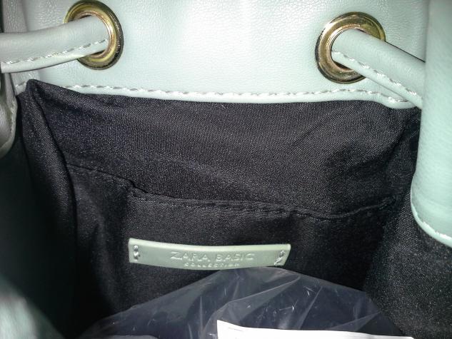 Oλοκαινουργια τσαντα ZARA bucket bag, με υψος 18 cm. Photo 3