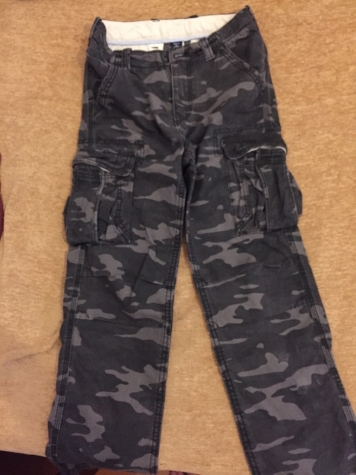 Gap boys army pants , camouflage grey