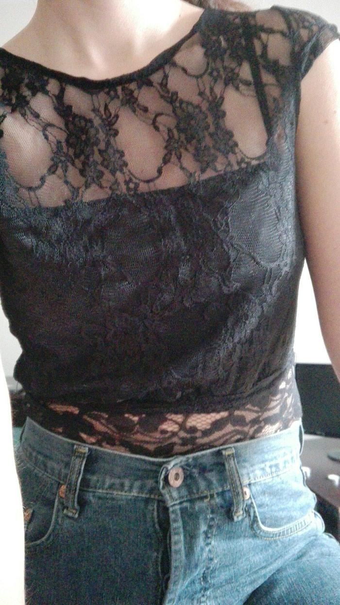 Μπλουζάκι μαύρο δαντέλα ιδανικό για βράδυ νούμερο S-M. Photo 1
