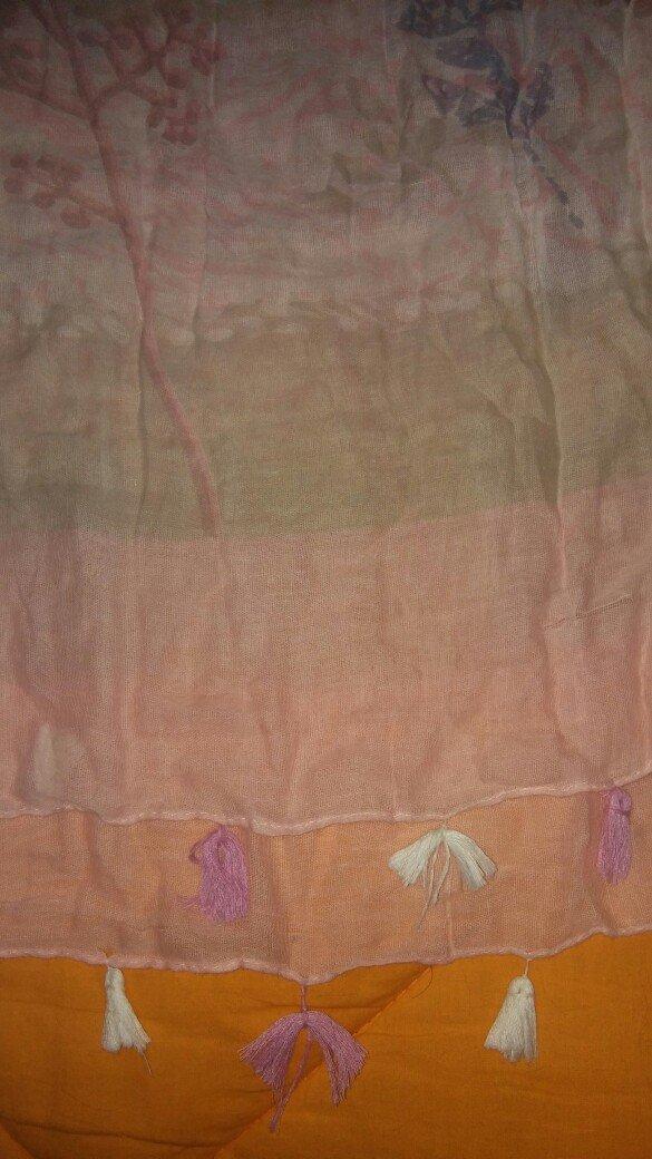 Πασμινα βαμβακερη φορεμενη μια φορα σε αριστη κατασταση. αποστολη με π. Photo 1
